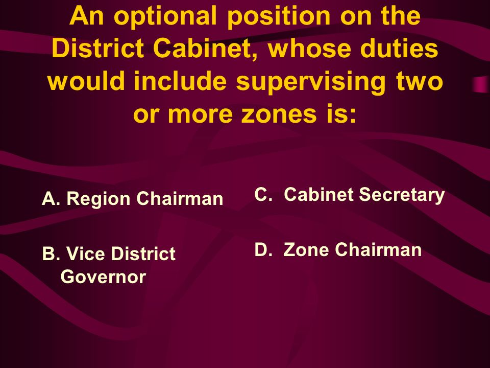 Answer: A district must consist of at least 1250 members.