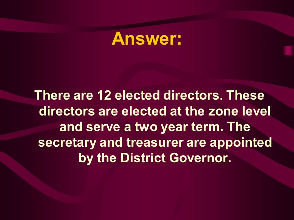 How many elected members on the District N2 Foundation A. 8 B. 12 C. 11 D. 6