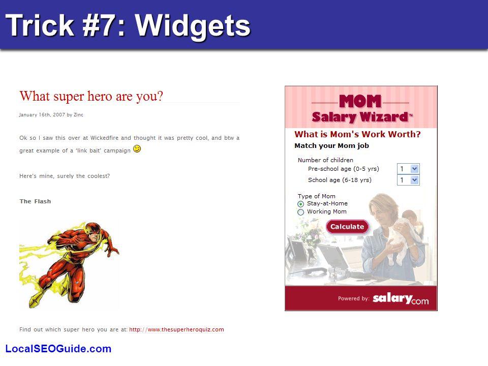 LocalSEOGuide.com Trick #7: Widgets