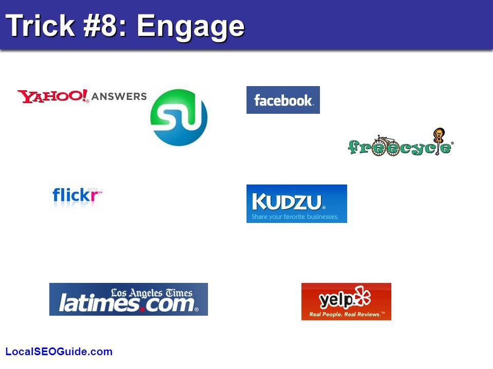 LocalSEOGuide.com Trick #8: Engage