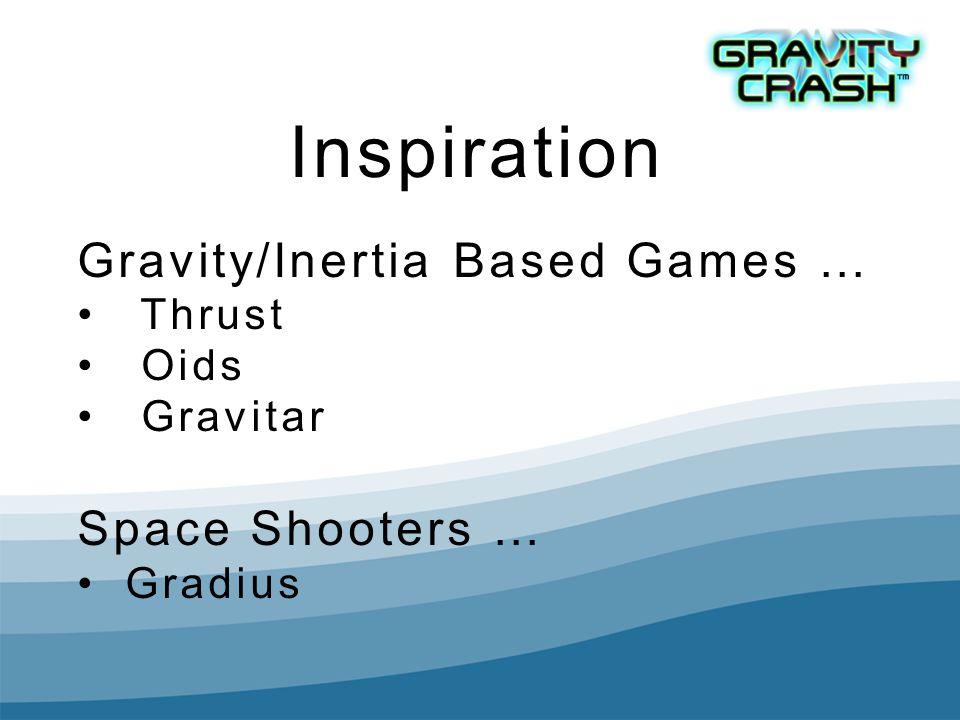 Inspiration Gravity/Inertia Based Games … Thrust Oids Gravitar Space Shooters … Gradius