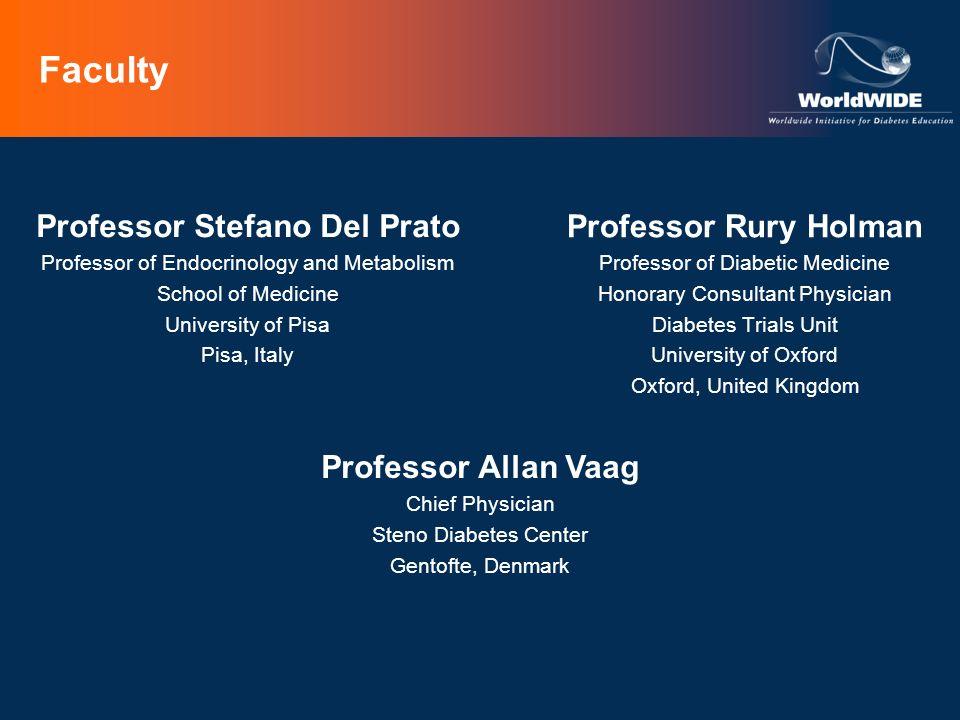 Faculty Professor Rury Holman Professor of Diabetic Medicine Honorary Consultant Physician Diabetes Trials Unit University of Oxford Oxford, United Ki