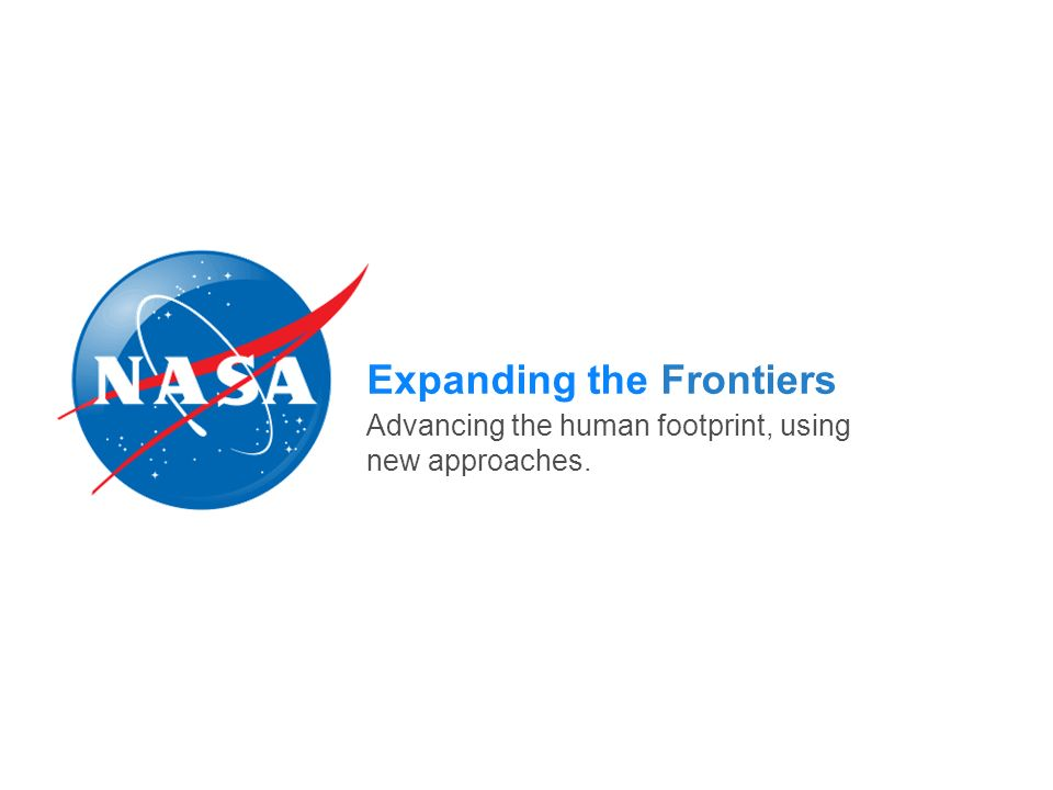 Expanding the Frontiers Advancing the human footprint, using new approaches.