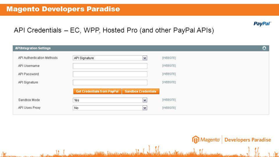 API Credentials – EC, WPP, Hosted Pro (and other PayPal APIs)