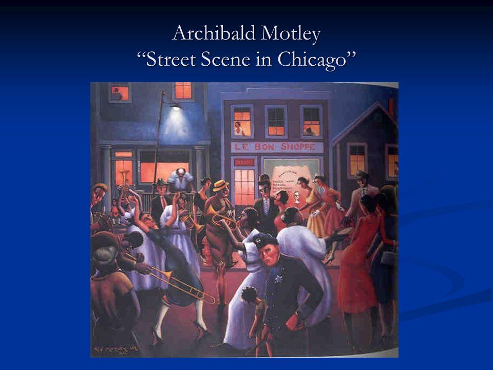 Archibald Motley Street Scene in Chicago
