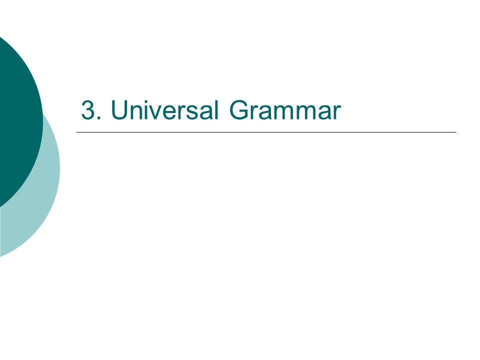 3. Universal Grammar
