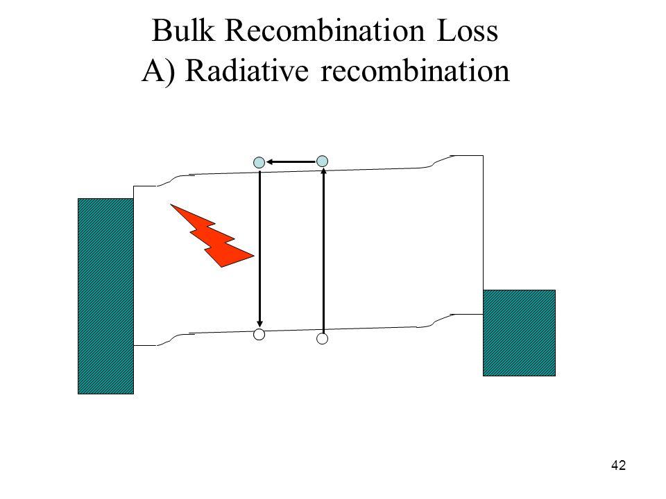 42 Bulk Recombination Loss A) Radiative recombination