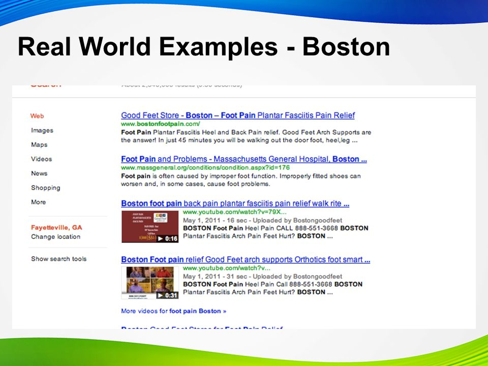 Real World Examples - Boston