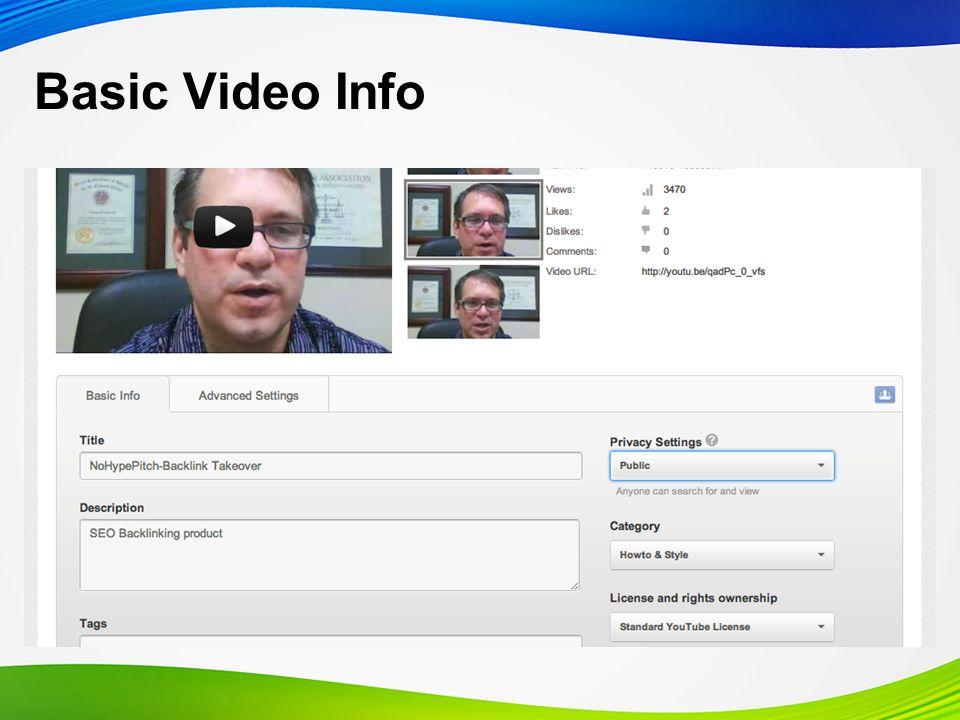 Basic Video Info
