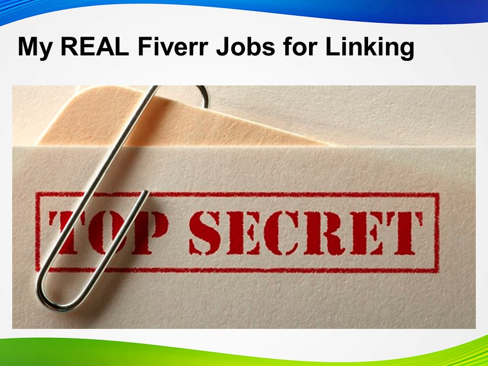 My REAL Fiverr Jobs for Linking