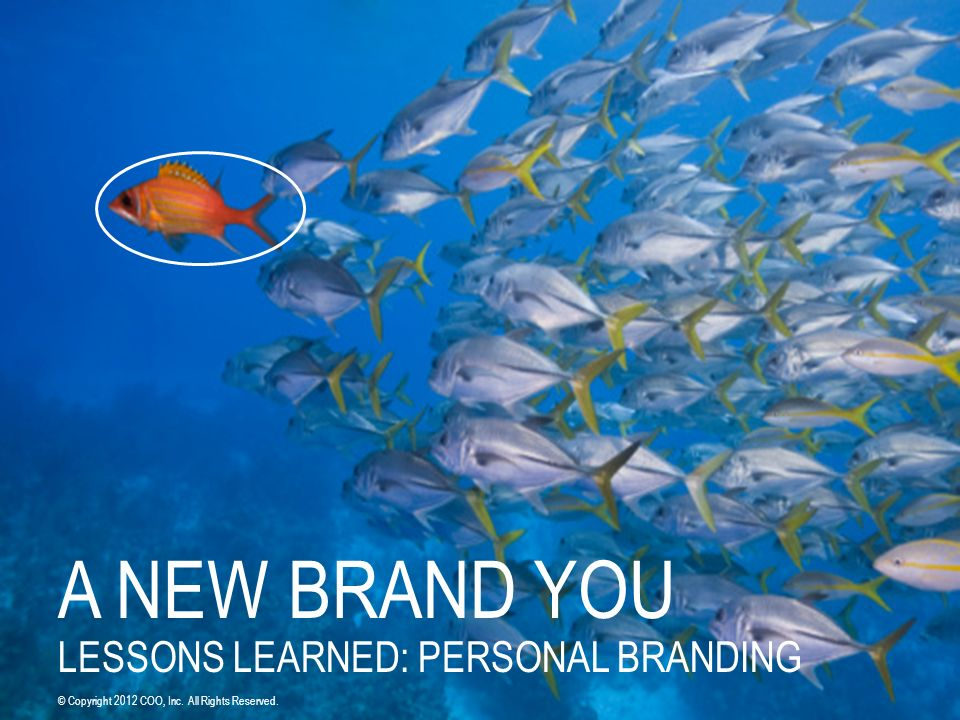 A NEW BRAND YOU LESSONS LEARNED: PERSONAL BRANDING © Copyright 2012 COO, Inc. All Rights Reserved.