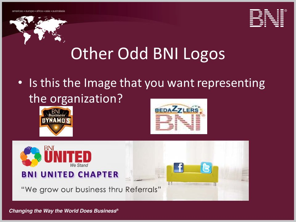 Other Odd BNI Logos Is this the Image that you want representing the organization