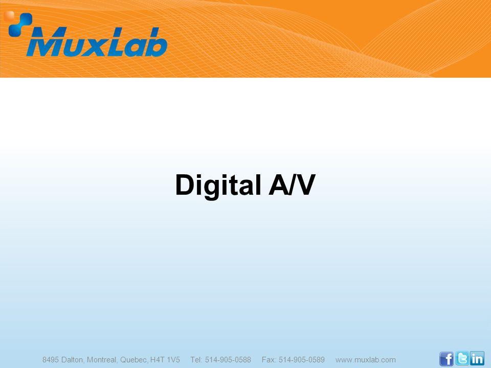 Digital A/V 8495 Dalton, Montreal, Quebec, H4T 1V5 Tel: 514-905-0588 Fax: 514-905-0589 www.muxlab.com