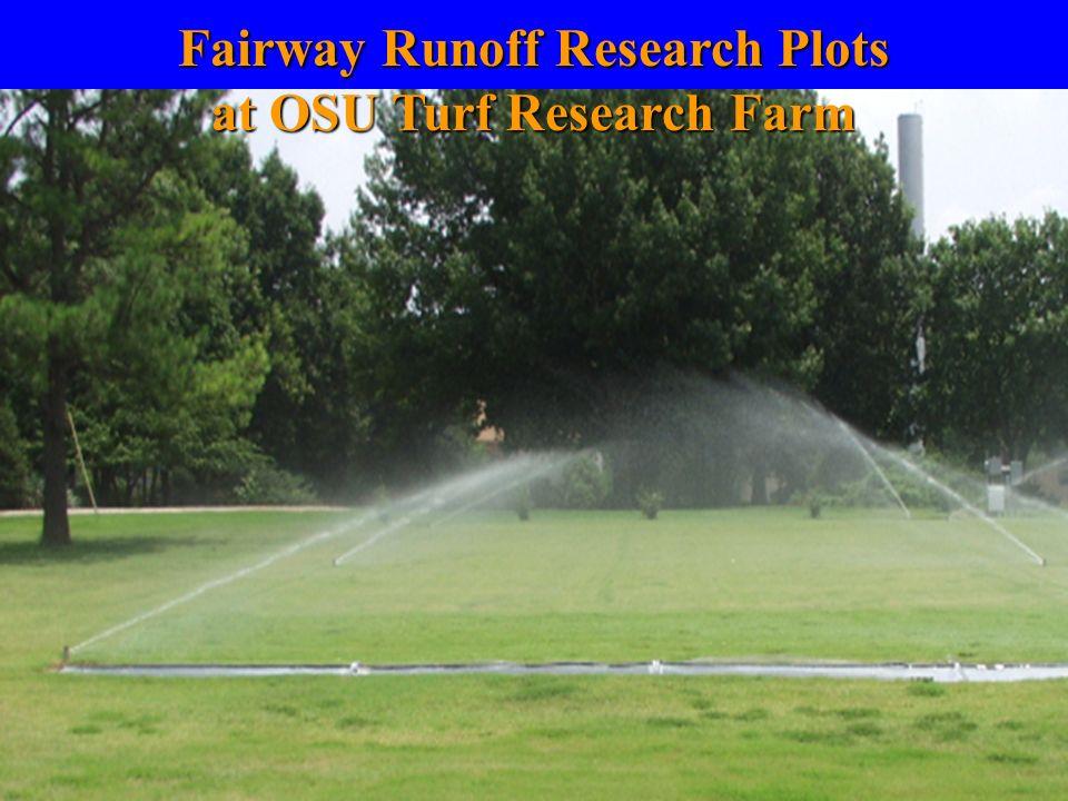 Fairway Runoff Research Plots at OSU Turf Research Farm