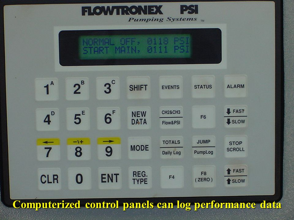 Computerized control panels can log performance data