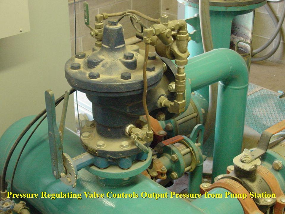 Pressure Regulating Valve Controls Output Pressure from Pump Station