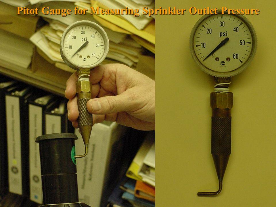 Pitot Gauge for Measuring Sprinkler Outlet Pressure
