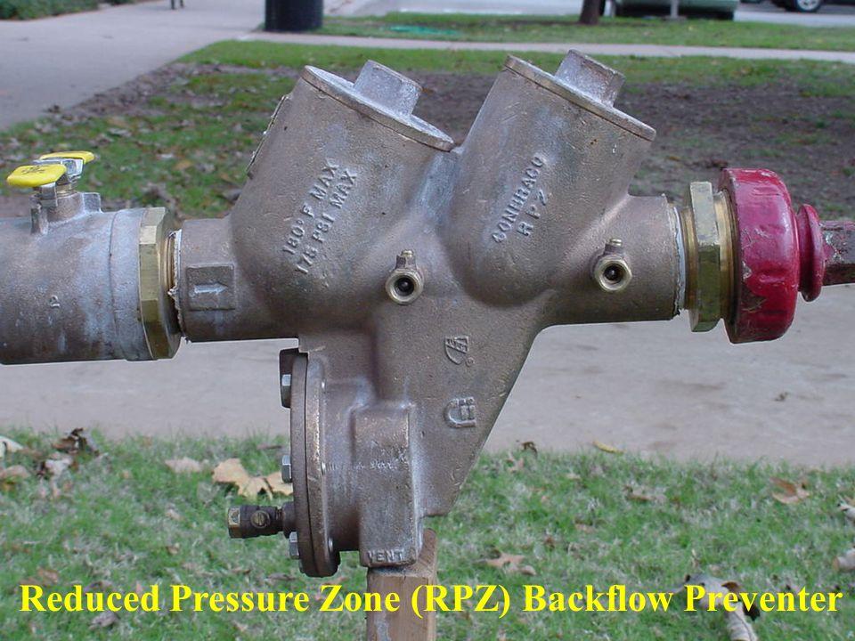 Reduced Pressure Zone (RPZ) Backflow Preventer