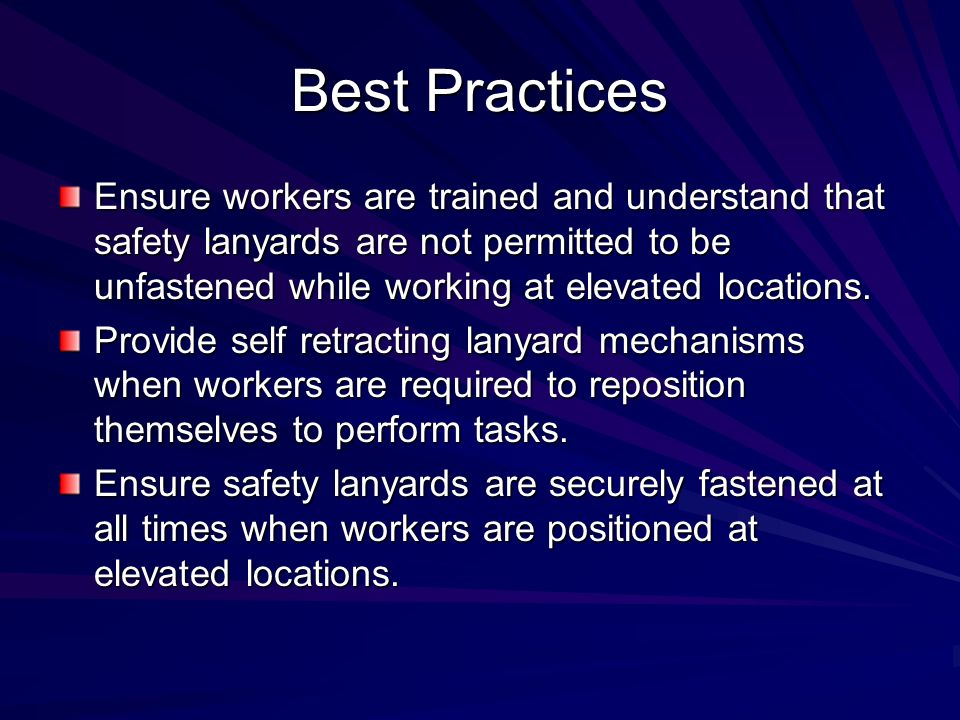 Causal Factors Management policies and procedures were inadequate.