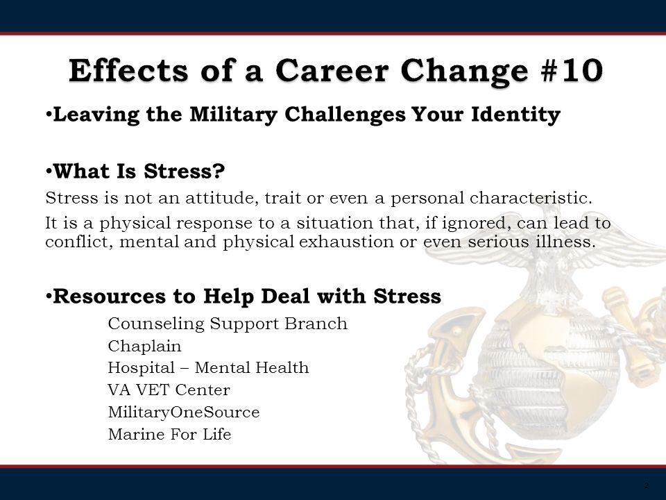 2 Leaving the Military Challenges Your Identity What Is Stress.