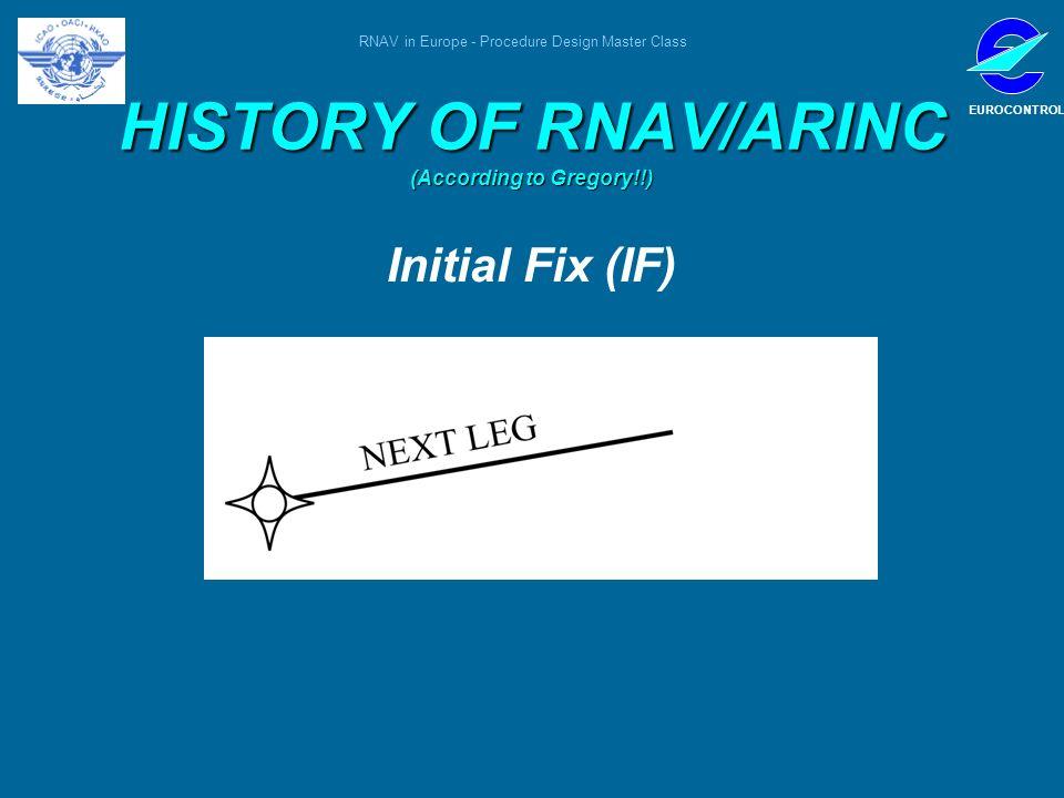 RNAV in Europe - Procedure Design Master Class EUROCONTROL HISTORY OF RNAV/ARINC (According to Gregory!!) Initial Fix (IF)