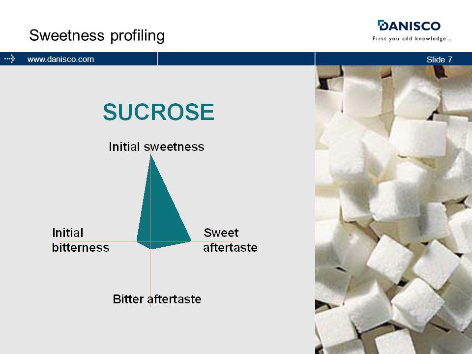 Slide 7 www.danisco.com Sweetness profiling