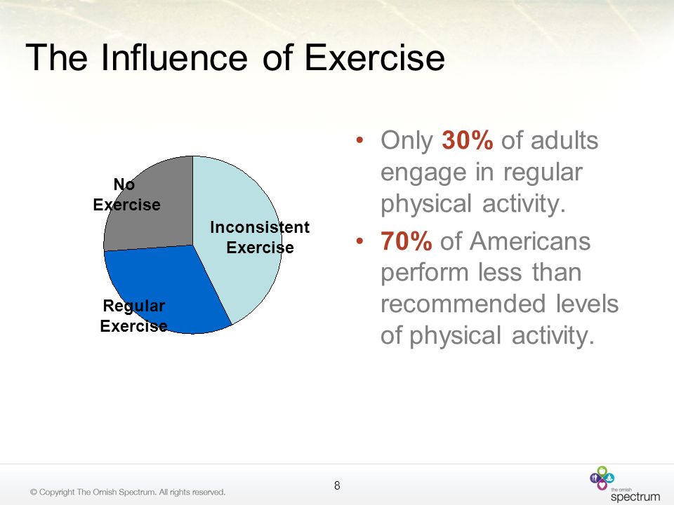 Exercise and Stress Management Improved flexibility Increased awareness and ability to focus Improved breathing techniques Improved balance 49