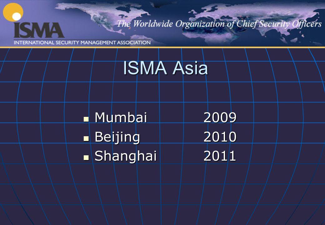 ISMA Asia Mumbai2009 Mumbai2009 Beijing2010 Beijing2010 Shanghai2011 Shanghai2011