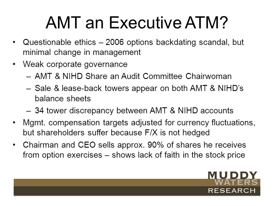 AMT an Executive ATM.