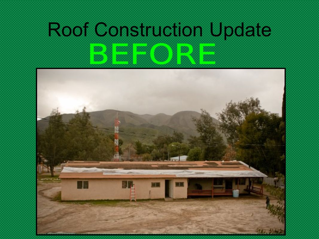 Roof Construction Update