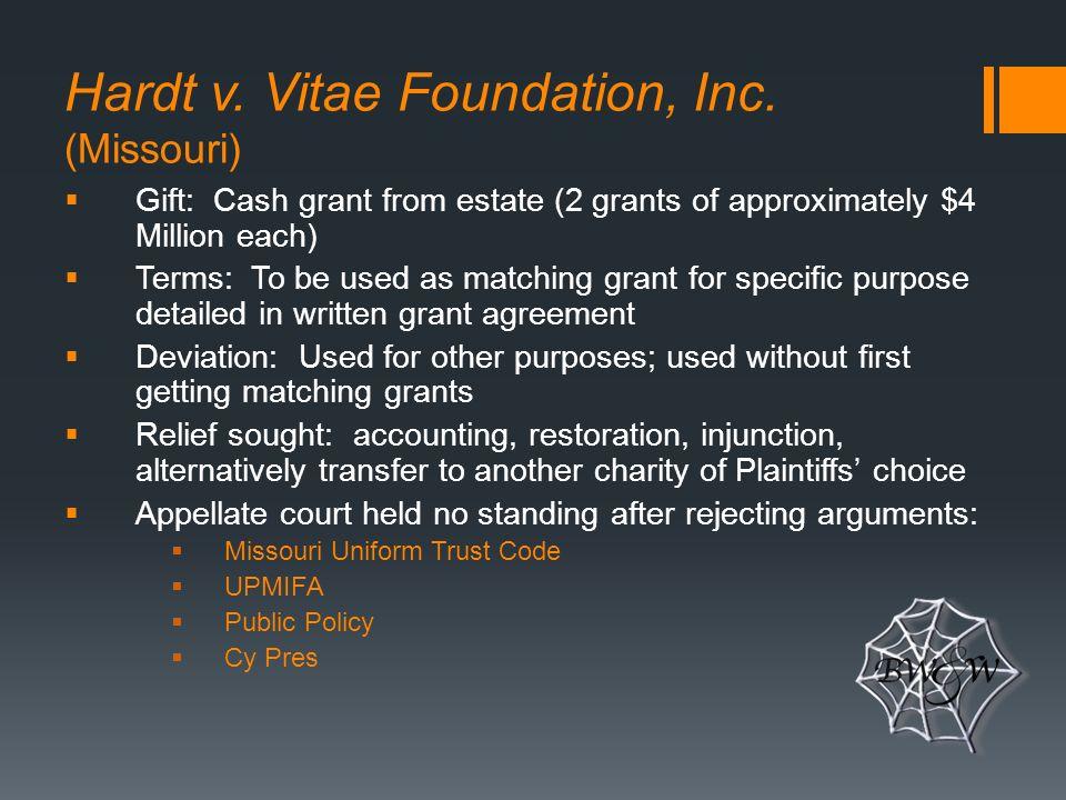 Hardt v. Vitae Foundation, Inc.
