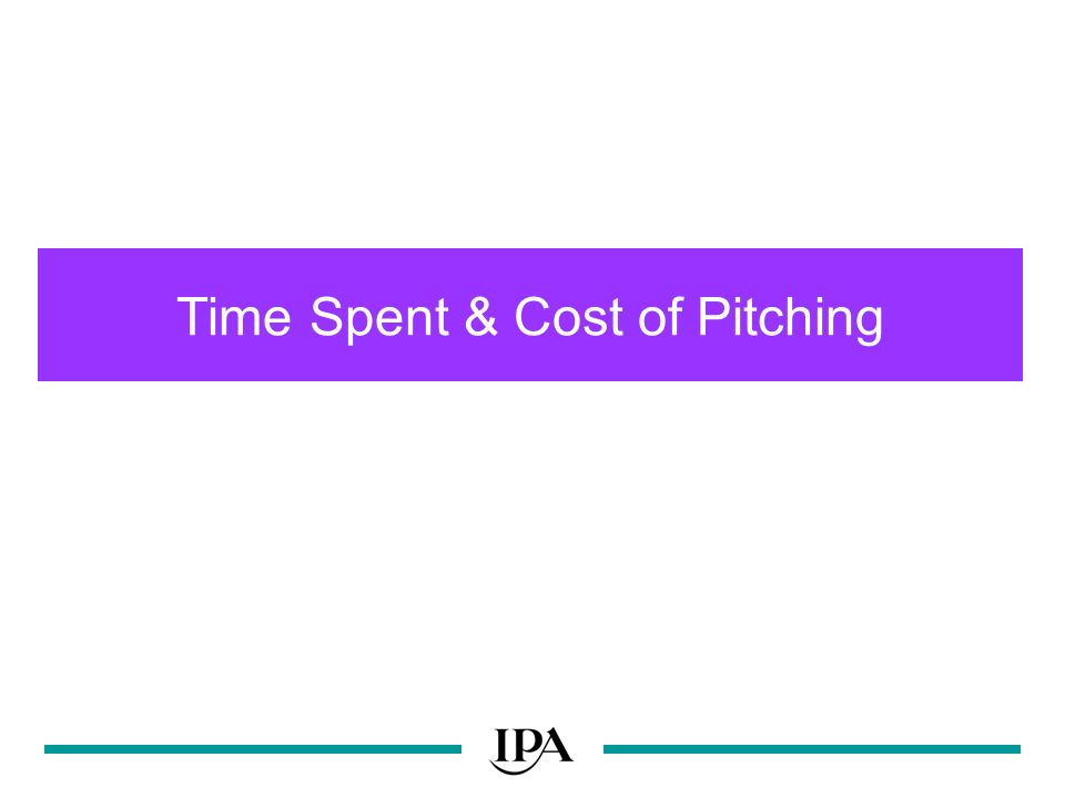 Time Spent & Cost of Pitching