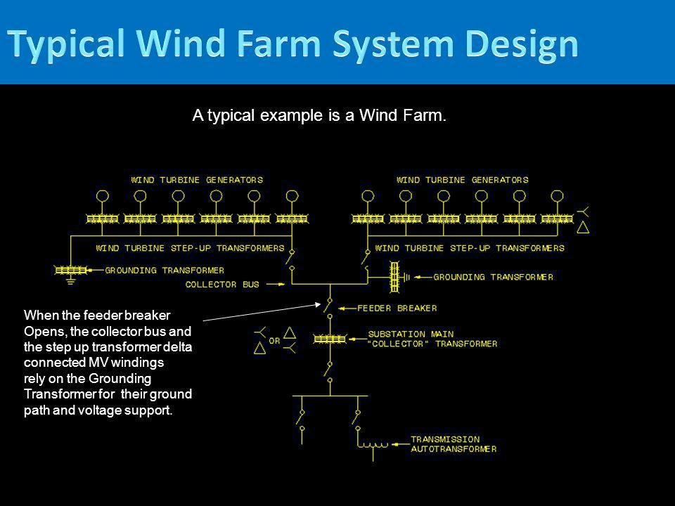 A typical example is a Wind Farm. When the feeder breaker Opens, the collector bus and the step up transformer delta connected MV windings rely on the