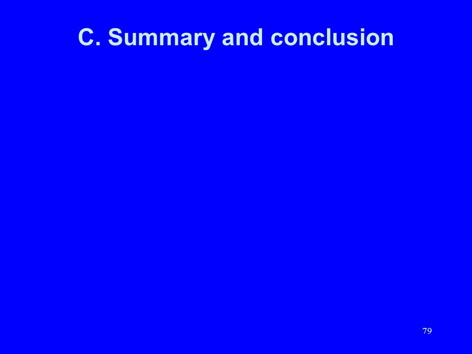 79 C. Summary and conclusion