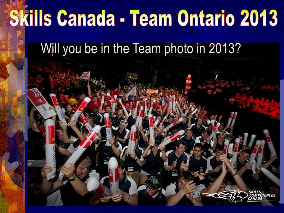 Will you be in the Team photo in 2013