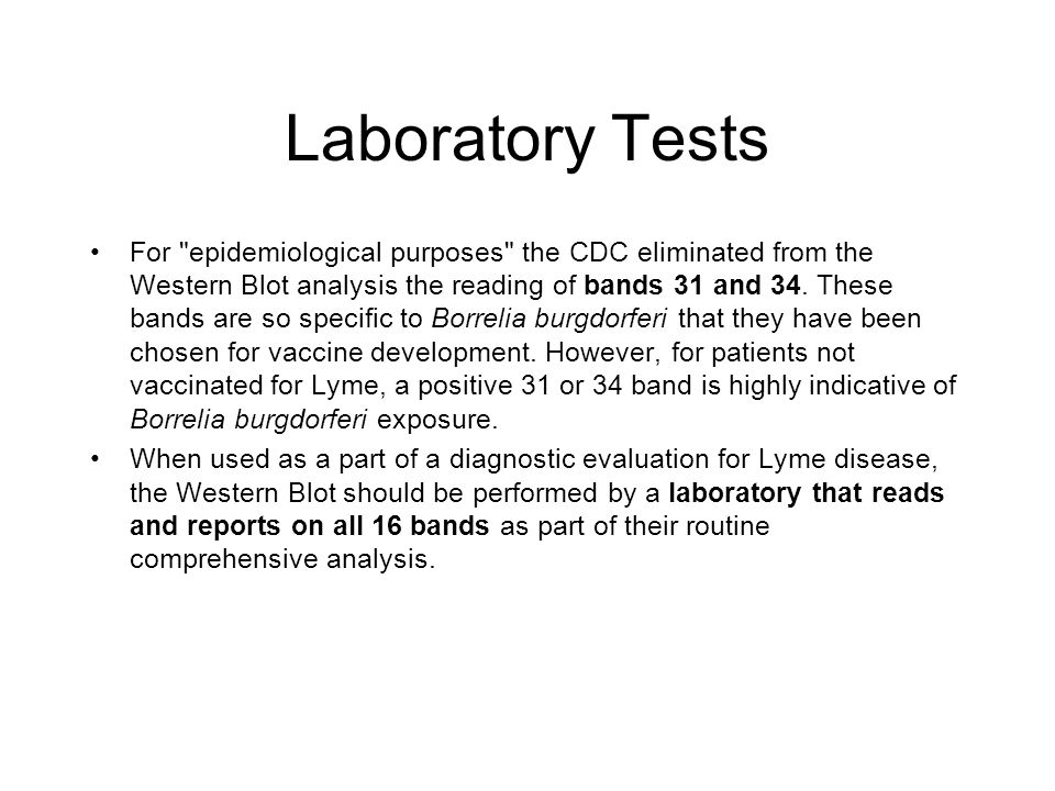Laboratory Tests For