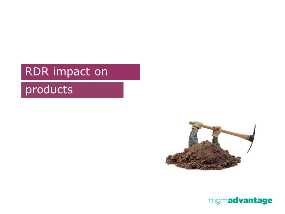 RDR impact on products