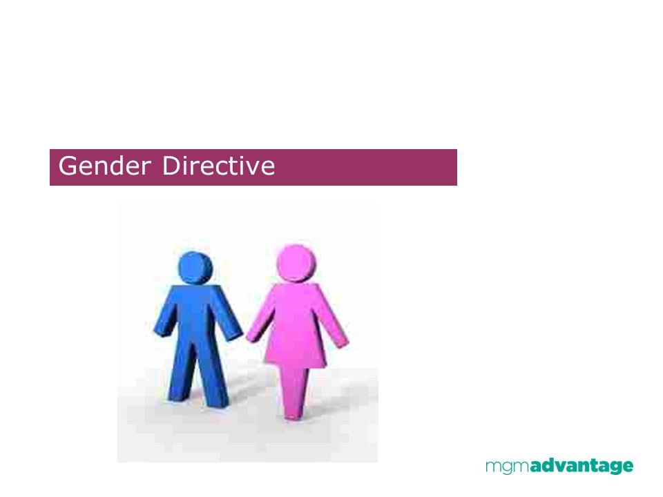 Gender Directive