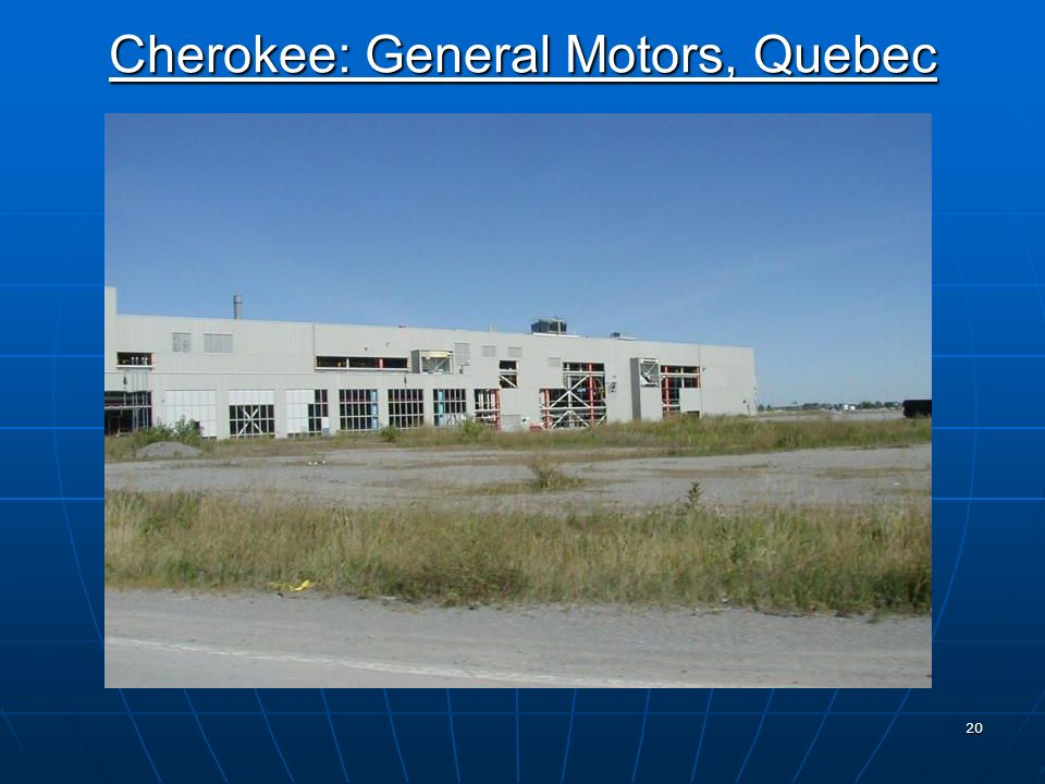 19 GENERAL MOTORS CANADA Boisbriand, Quebec 232 acres Mixed-use Redevelopment Includes: 82 Acres - Retail 60 Acres - Residential Mixed-use 54 Acres - Prestige Industrial 36 Acres - Infrastructure and Open Space