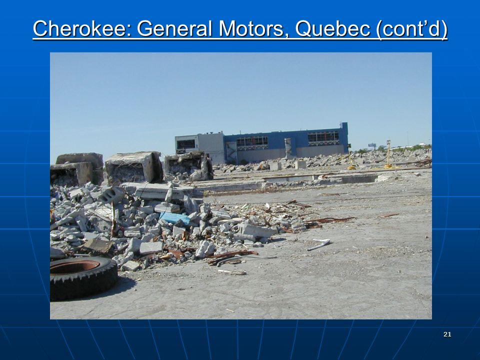 20 Cherokee: General Motors, Quebec