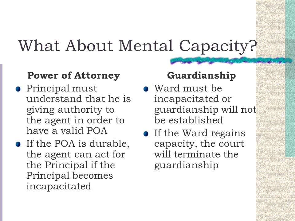 What About Mental Capacity.