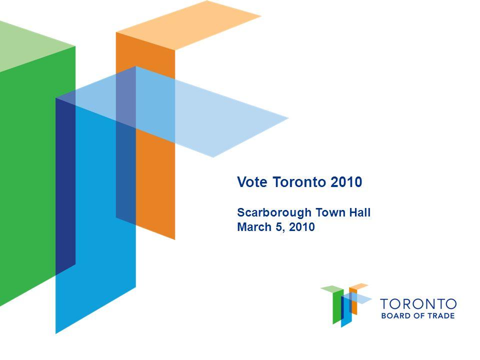 Vote Toronto 2010 Scarborough Town Hall March 5, 2010