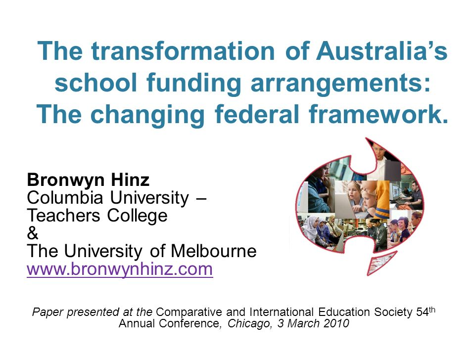1 The transformation of Australias school funding arrangements: The changing federal framework.