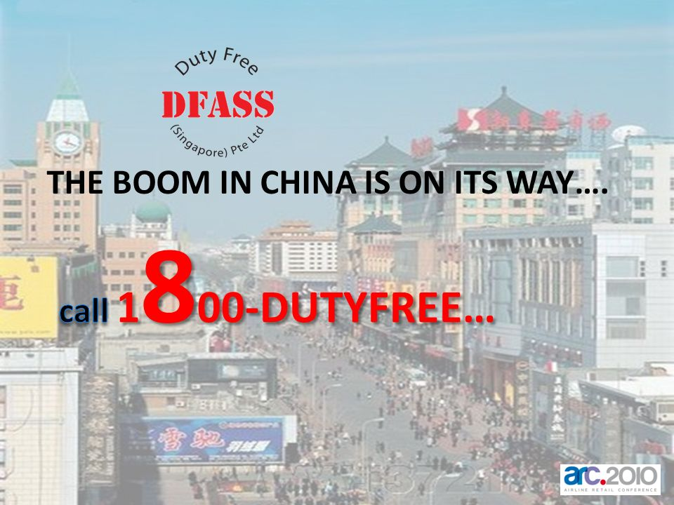 THE BOOM IN CHINA IS ON ITS WAY….