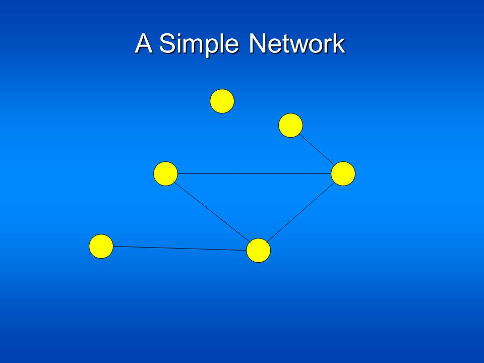 A Simple Network