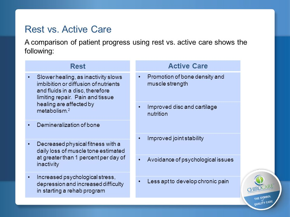 2 Considerations for Establishing a Physical Rehabilitation / Active Care Plan Other Risk Factors: Abnormal illness behavior Tobacco user Pre-existing structural pathology / skeletal anomalies Poor self-rated health