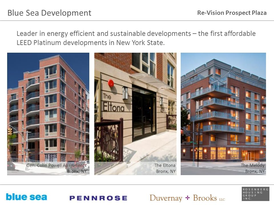 Re-Vision Prospect Plaza Leader in energy efficient and sustainable developments – the first affordable LEED Platinum developments in New York State.