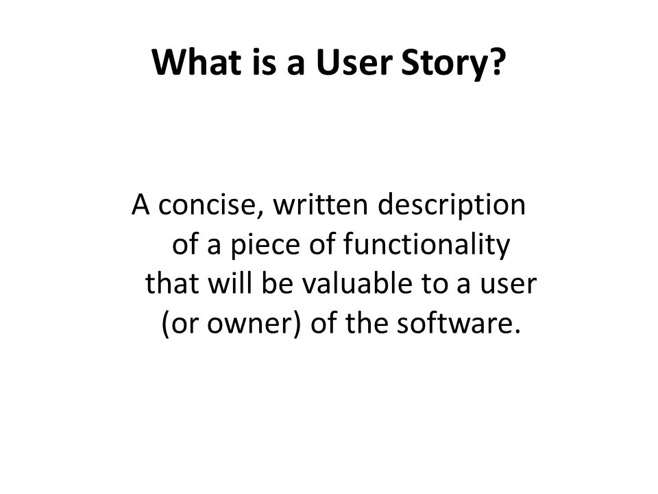 User Story Cards have 3 parts 1.Card - A written description of the user story for planning purposes and as a reminder 2.Conversation - A section for capturing further information about the user story and details of any conversations 3.Confirmation - A section to convey what tests will be carried out to confirm the user story is complete and working as expected