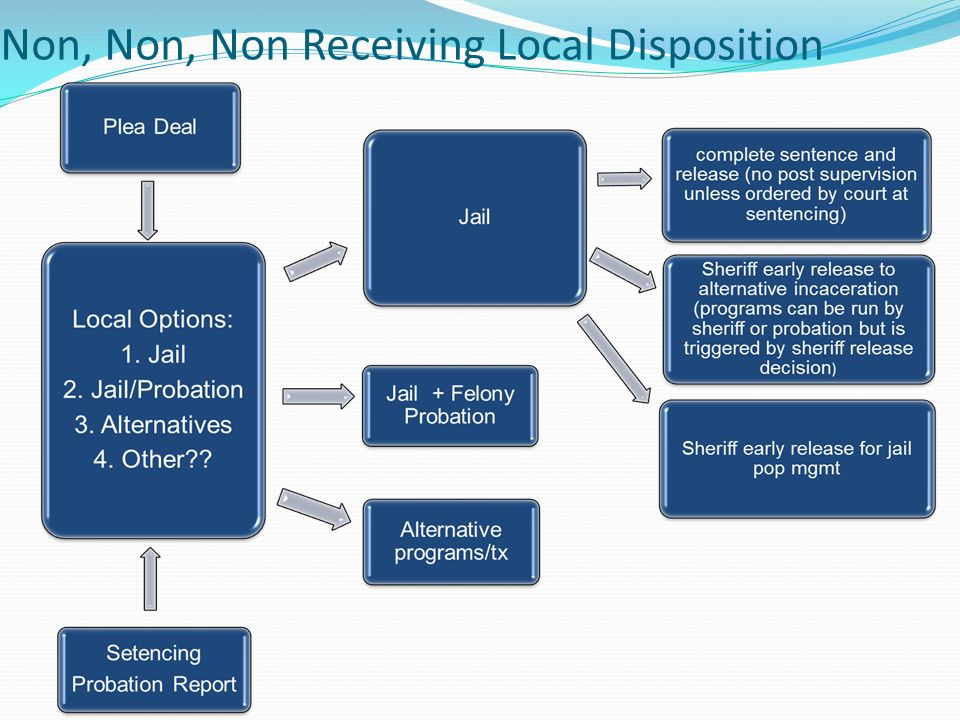 Options for N 3 after Sentencing Enhanced local custody and supervision tools: Alternative custody tools for county jails Home detention for low-level offenders Local jail credits like current prison credits (Day-for- day).