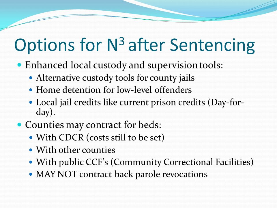 State Prison Eligible The following sentences must be served in state prison: Prior or current serious or violent felony as described in PC 1192.7 (c) or 667.5 (c) The defendant is required to register as a sex offender pursuant to PC 290 Excludes certain other specified crimes (now about 60) Note: excluded crimes are those for which a defendant can still be committed to state prison.
